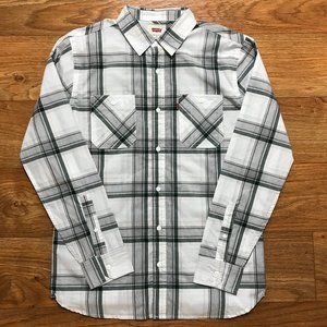 Levi's White Long Sleeve Button Down Shirt Small